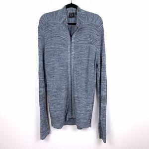 Armani Exchange Mens XL Zip Front Cardigan Knit